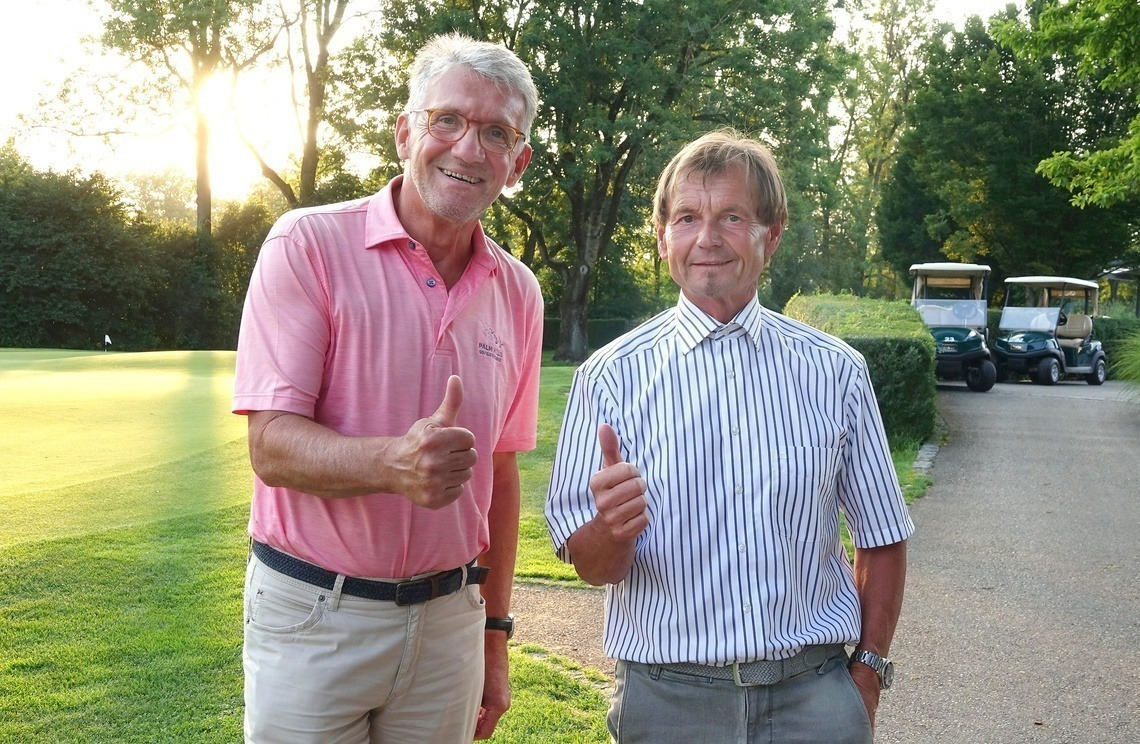 Erfolgreiches Duo: Triple-Sieger Heribert Brunner, links, und Fotograf Joe Petrus.