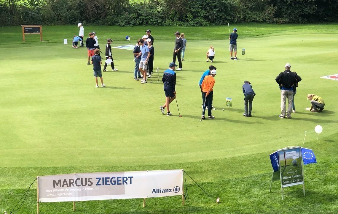 Für die höheren Handicap-Spieler organisierte Eichenrieds Mitglied und großzügiger Preis-Sponsor Marcus Ziegert mit seiner Allianz-Generalagentur einen tollen Putt-Wettbewerb.