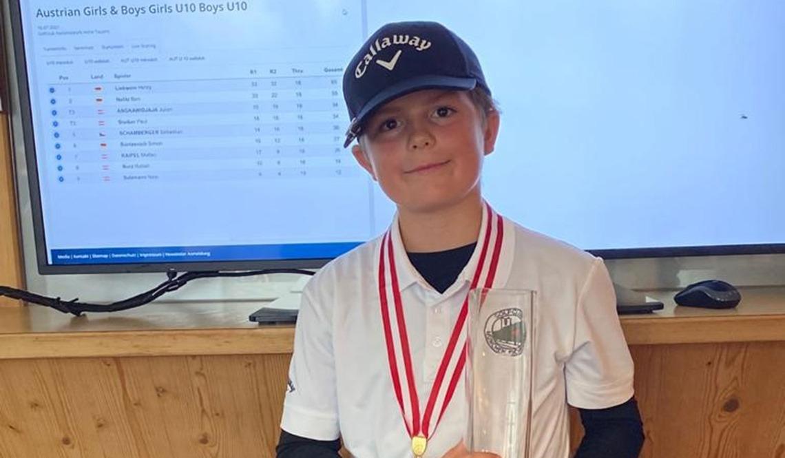 Siegreich in der Altersklasse U10: Henry Liebwein