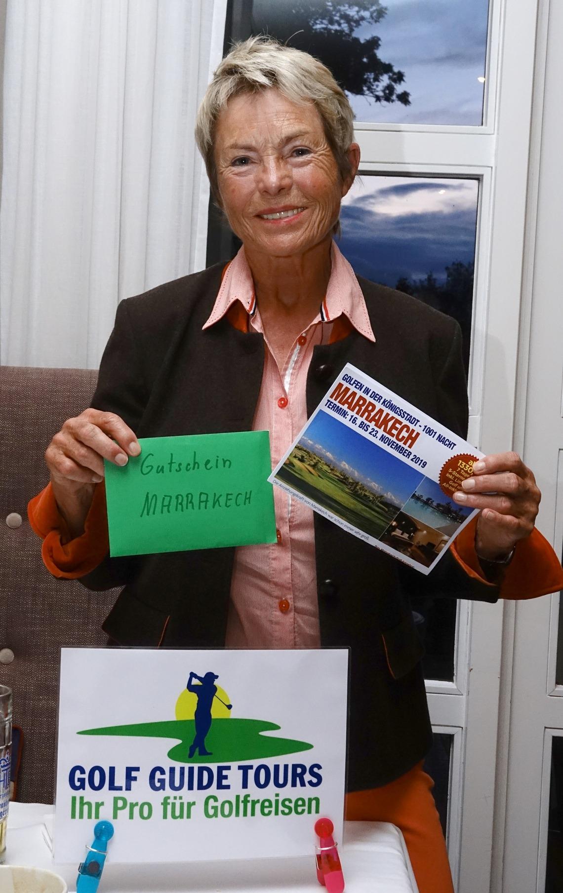 Dr. Ingrid Lüllau freut sich, im November ins sonnige Marrakech fliegen zu dürfen.