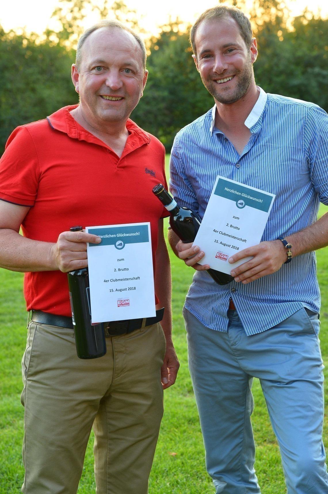 Glückliche Zweite: Dirk Bethge und Walter Lang. Foto: Joe Petrus