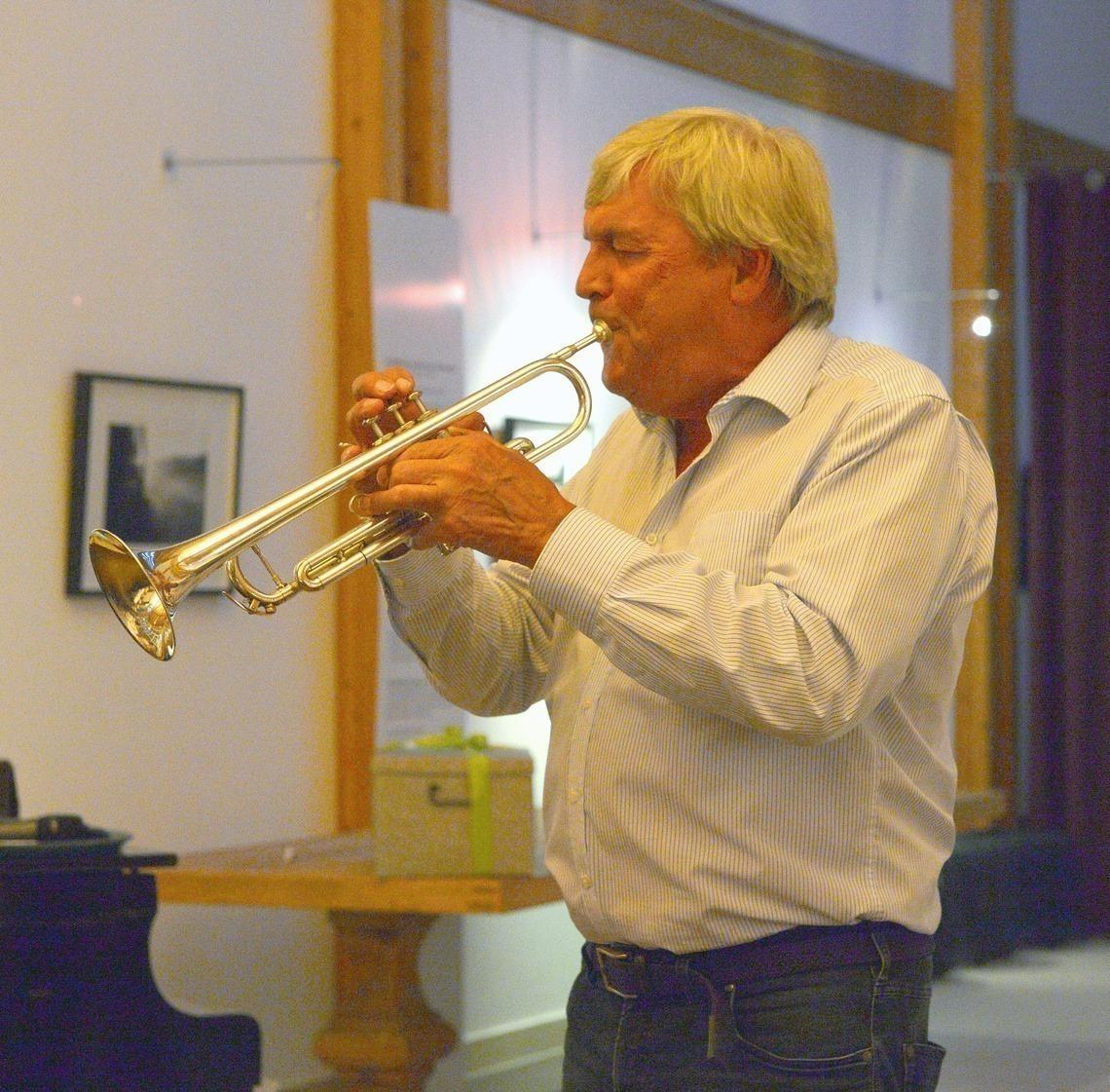 Sorgte für Stimmung: Trompeter Otto Laistner