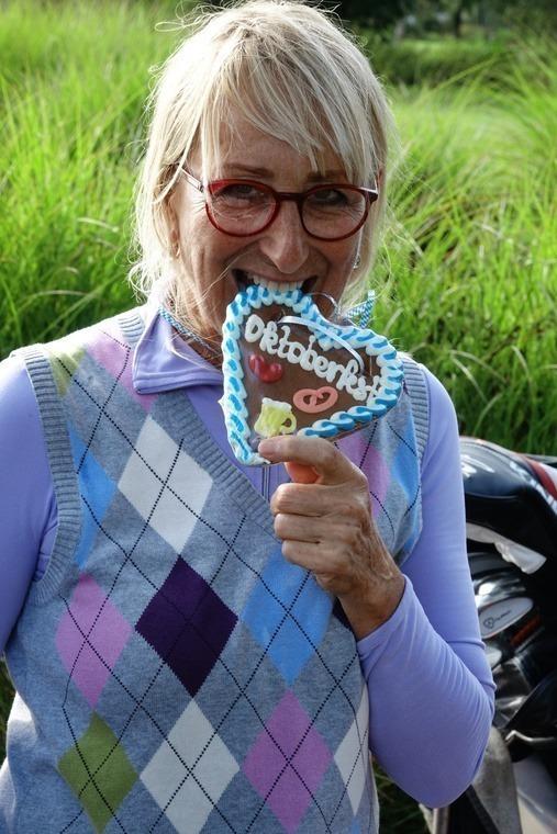 Sophie Jäger findet Wiesn-Herzerl zum Anbeißen.
