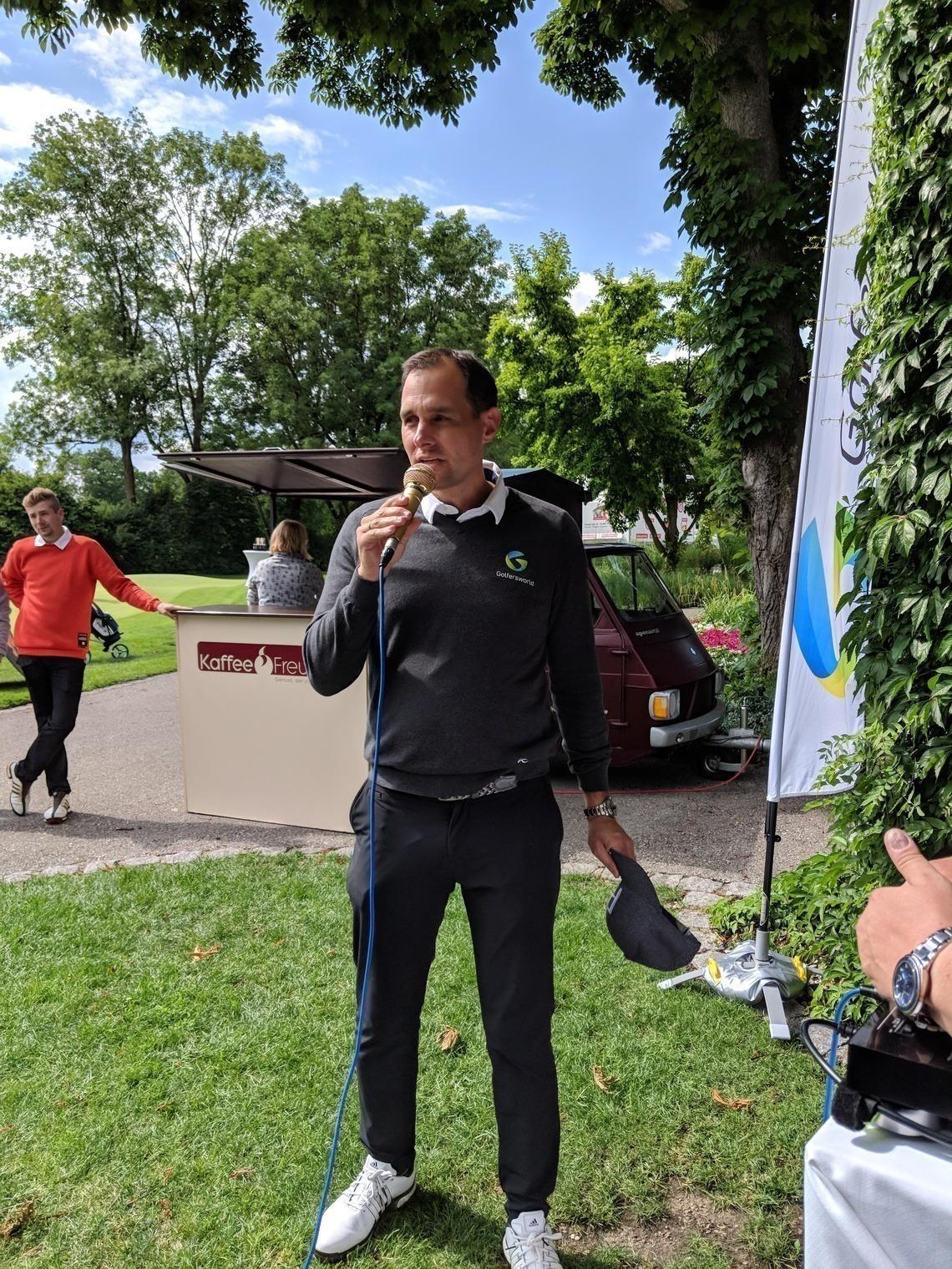 Golfersworld-Geschäftsführer Patrick Wolferstätter freute sich über eine gelungene Turnier-Premiere