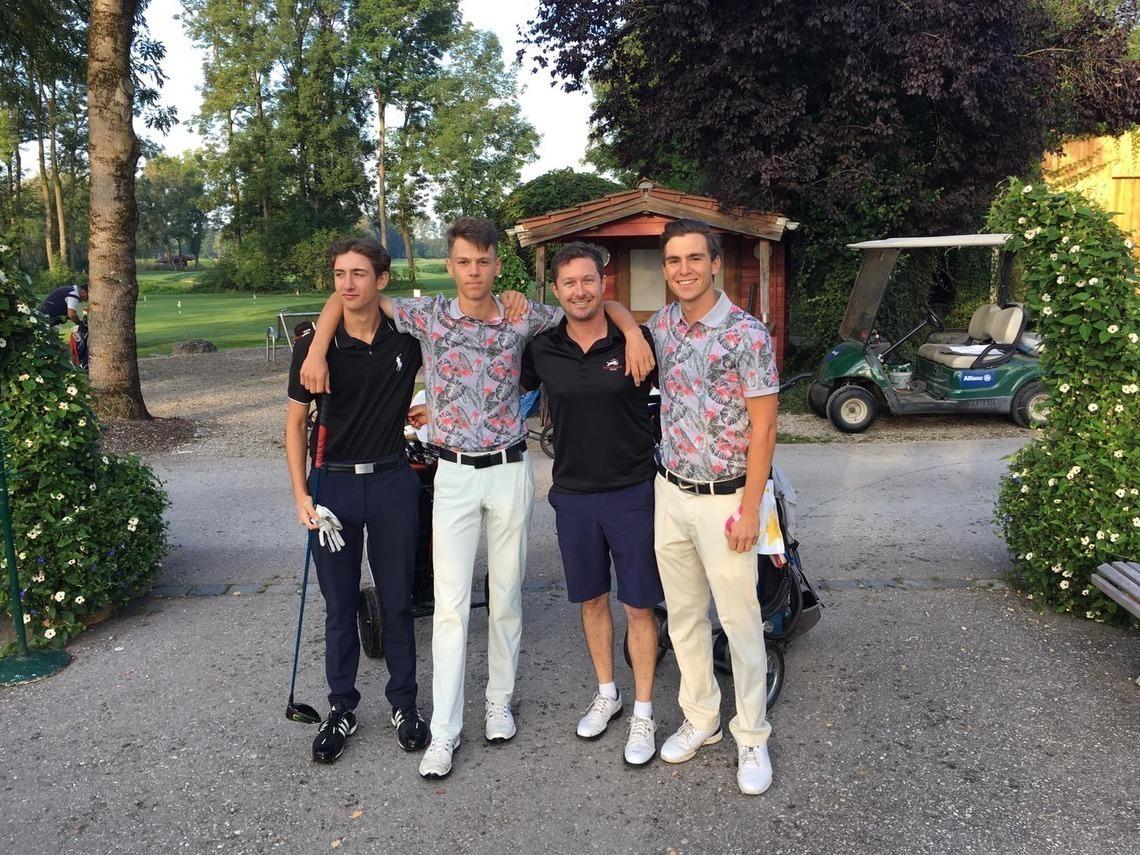 Gewinner-Flight: v. l. n. r. Phillip Pyttlik, Felix Jacobsson, Tobias Ebner und Gero Lammel.