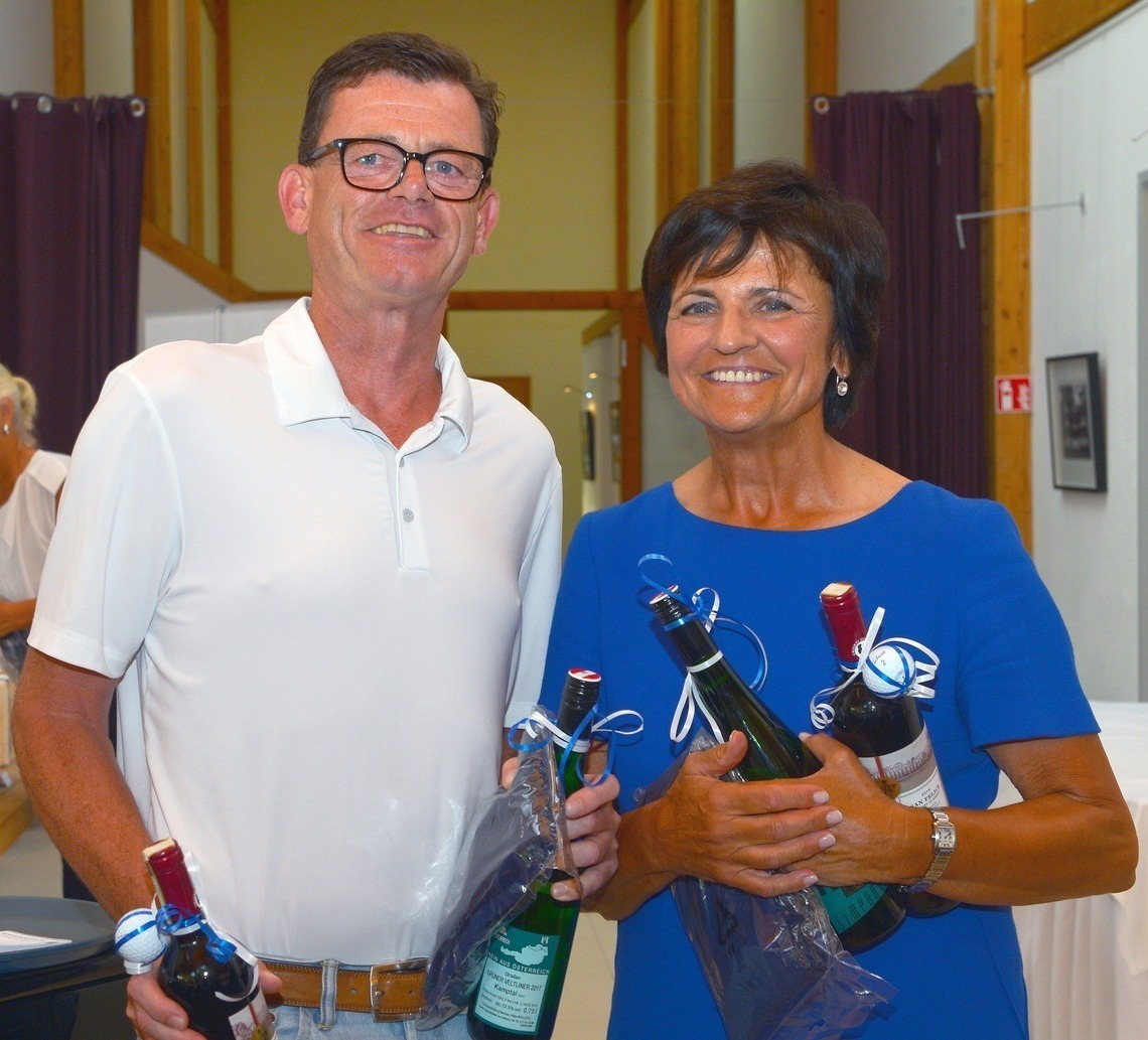 Longest Drive-Gewinner: Andreas Schmidt und Kathi Boden