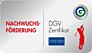 Nachwuchsförderung - DGV Zertifikat Gold